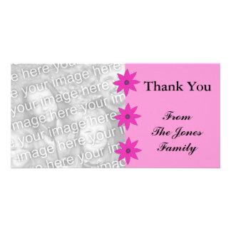 flores rosadas tarjetas fotográficas