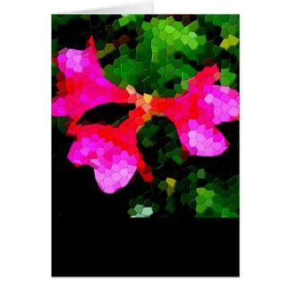 Flores rosadas tejadas de la azalea tarjeta de felicitación