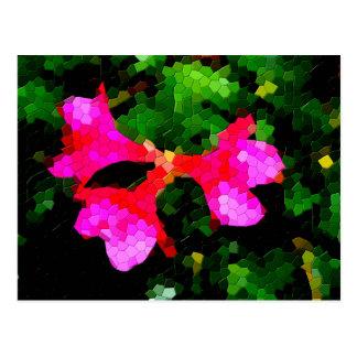 Flores rosadas tejadas de la azalea tarjeta postal