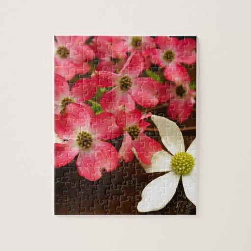 Flores rosadas y blancas del Dogwood Puzzles Con Fotos