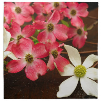 Flores rosadas y blancas del Dogwood Servilleta De Papel