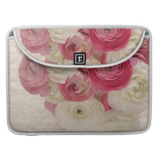 flores rosadas y blancas, manga de Macbook de la e Funda Macbook Pro