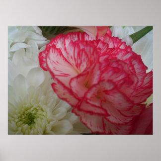 Flores rosadas y blancas impresiones