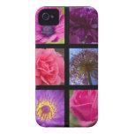 Flores rosadas y púrpuras iPhone 4 Case-Mate protectores