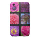 Flores rosadas y púrpuras iPhone 3 cobertura