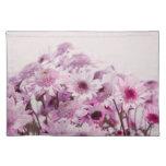 Flores rosadas y púrpuras mantel individual