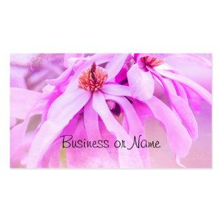 Flores rosados bonitos de la flor tarjetas de visita