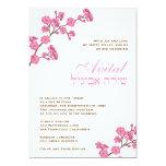 Flores rosados de Avital de la invitación de