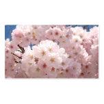 Flores rosados de encargo rosados de las tarjetas  plantilla de tarjeta de visita