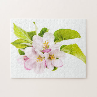 Flores rosados de la manzana puzzle