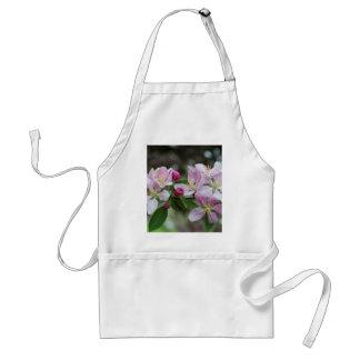 Flores rosados de la primavera delantal