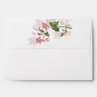 Flores rosados de las flores de la acuarela de la sobre