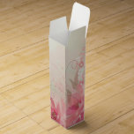 Flores rosados del tejido - caja del vino del rega cajas para botellas de vino