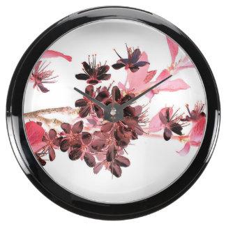 flores rosados reloj aquavista