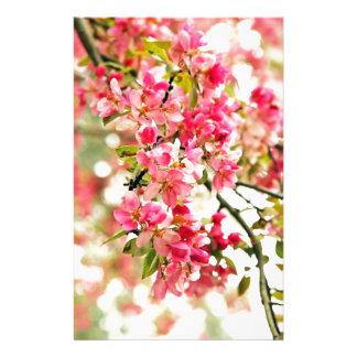 Flores rosados y blancos de Apple Papeleria
