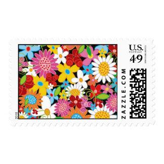 Flores RSVP/TQ de la primavera/fecha de la Timbre Postal