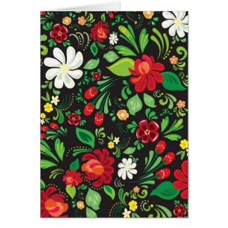 flores rusas tarjeta de felicitación