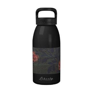 Flores rústicas del vintage botella de agua reutilizable