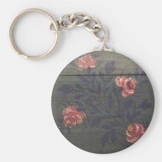 Flores rústicas del vintage llaveros personalizados
