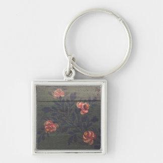 Flores rústicas del vintage llavero personalizado