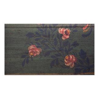 Flores rústicas del vintage tarjetas de visita