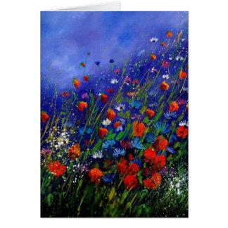 flores salvajes 787 tarjeta de felicitación