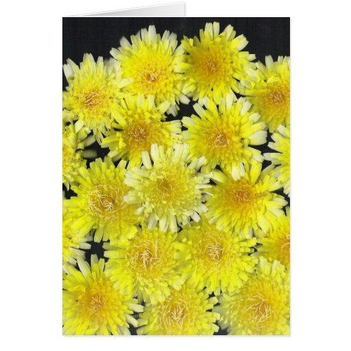 Flores salvajes amarillas felicitacion
