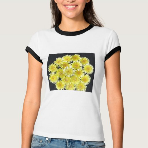 Flores salvajes amarillas playera