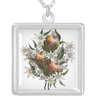 Flores salvajes australianas colgante cuadrado