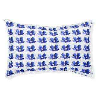 Flores salvajes azules cama para mascotas