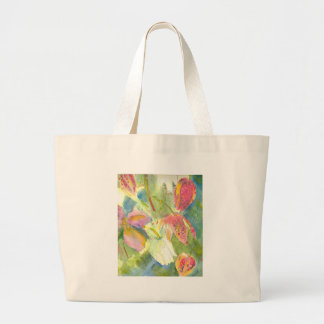 Flores salvajes británicas que pintan diseño flora bolsas lienzo