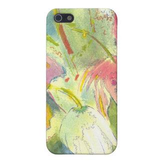 Flores salvajes británicas que pintan diseño flora iPhone 5 carcasas