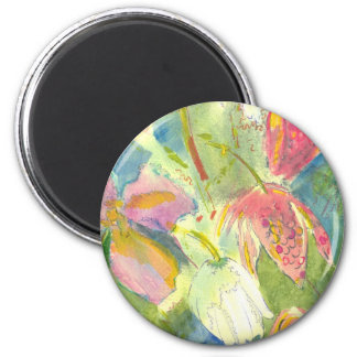Flores salvajes británicas que pintan diseño flora iman para frigorífico