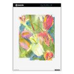 Flores salvajes británicas que pintan diseño flora calcomanías para el iPad 2