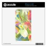 Flores salvajes británicas que pintan diseño flora iPhone 4S skins