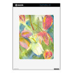 Flores salvajes británicas que pintan diseño flora iPad skin