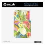 Flores salvajes británicas que pintan diseño flora calcomanía para iPod touch 4G
