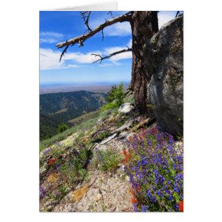 Flores salvajes de Idaho Tarjeta De Felicitación