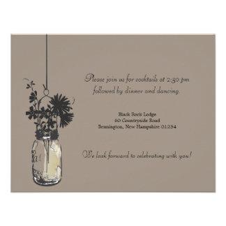 Flores salvajes de la tarjeta de la recepción y ta anuncio
