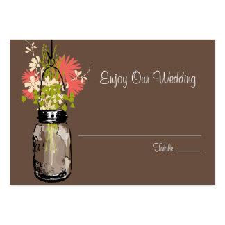 Flores salvajes de la tarjeta del asiento del acom tarjetas de negocios