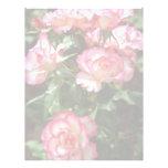 Flores salvajes de los rosas membretes personalizados