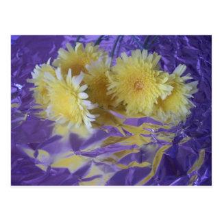 Flores salvajes del desierto amarillo tarjetas postales