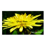 flores salvajes del diente de león tarjetas de visita