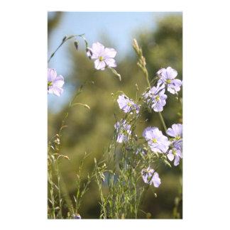 Flores salvajes del lino papelería de diseño