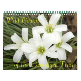 Flores salvajes, del rastro de Ocmulgee Calendarios De Pared