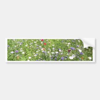 Flores salvajes pegatina para auto