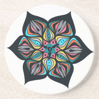 flores salvajes psico coloreado posavasos diseño