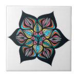 flores salvajes: psico coloreado teja  ceramica