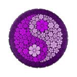 Flores salvajes púrpuras Yin Yang Frascos De Dulces