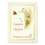 Flores salvajes que casan la invitación invitación 11,4 x 15,8 cm